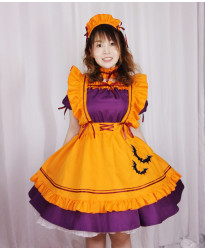 Christmas maid cosplay maid restaurant maid animation costume knitting Christmas costume