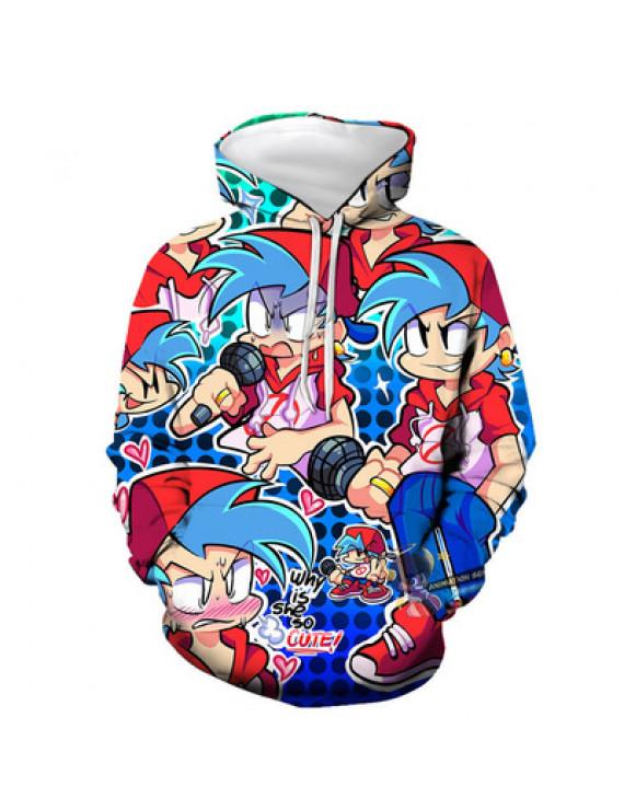 Friday night funkin 3D digital print hoodie