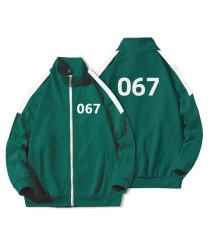 Squid game Sportswear men's sweater Lee Jung Jae Autumn Korean fashion coat