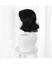 Resident Evil Village Alcina Dimitrescu Black Short Curly Cosplay Wig