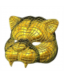 Squid Game Masks Tiger Golden Mask Squid Game Face Cover
