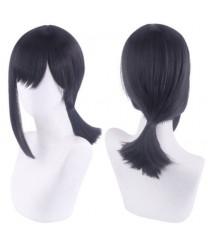 Chainsaw Man higashiyama kobeni Black Cosplay Wig 35 cm