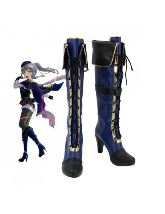 BanG Dream! Minato Yukina Blue Anime Cosplay Boots