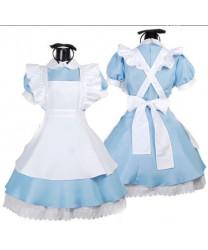 Alice in Wonderland Dress Cosplay Costume Sky Blue Maid Costume