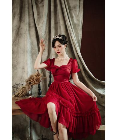 Original lolita three sisters of the magic capital Miss elegant French CLA series OP dress
