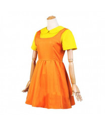 2021 Squid Game 123 Wood People Girl Dress Cosplay Costume