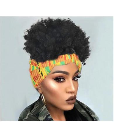Headband Wigs Afro Kinky Curly 100% Real Virgin Human Hair Costume Wigs