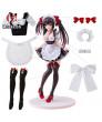 Date A Live Kurumi Tokisaki Black White Maid Cosplay Costume