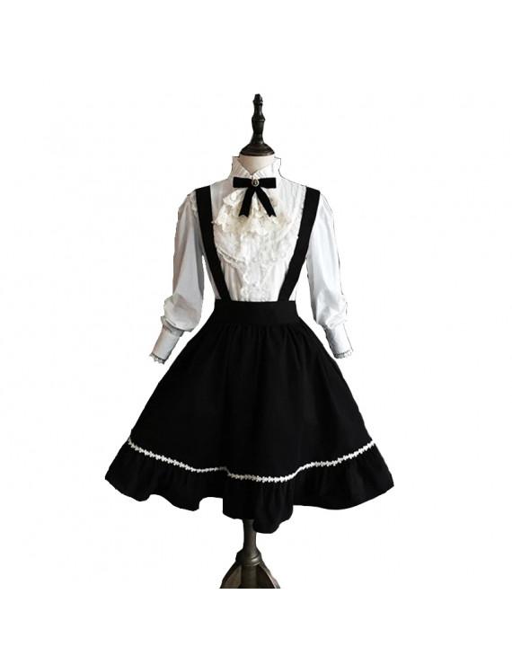Classic Lolita Dress Blouse Shirt Women's Girls Cotton Japanese Cosplay Costume