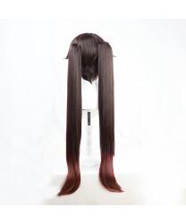 Genshin Impact HuTao Anime Cosplay Wig + Wig Cap