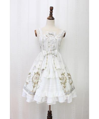 Alice girl original new Lolita angel cross handle lace bow suspender dress