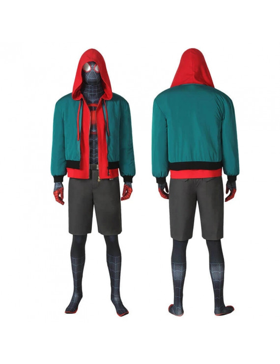 Spider-Man Into the Verse Miles Morales Full Set Cosplay Costume for Adult Male