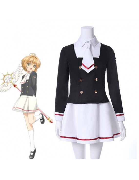 Cardcaptor Sakura Cosplay Costume Sakura Tomoyo Winter School Uniform