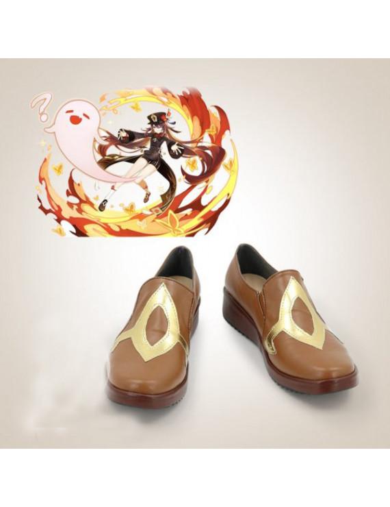 Customize Genshin Impact HuTao Cosplay Shoes